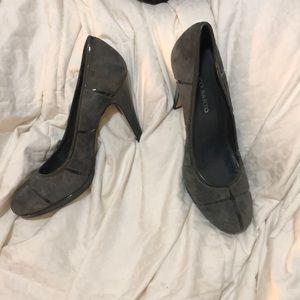 Nice Gray Franco Sarto Heels 8.5 Now gently used